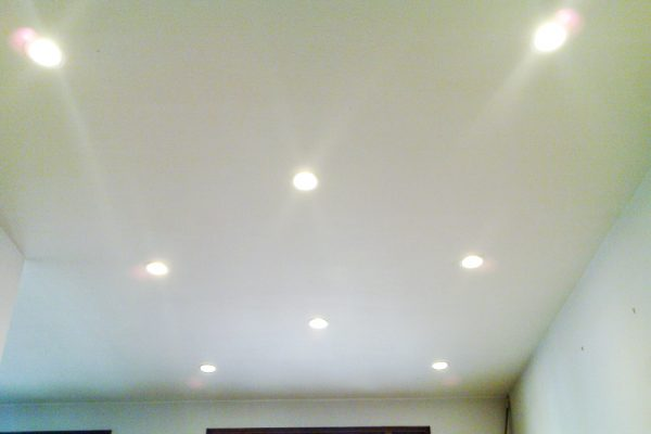 Recessed lighting installed