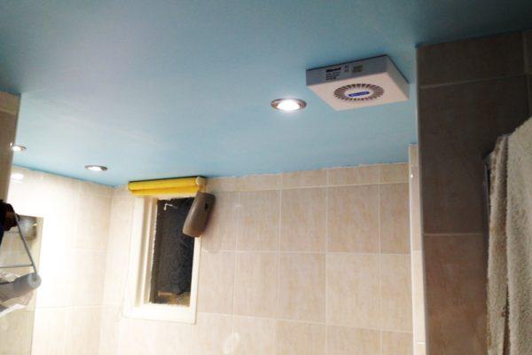 Bathroom lighting installed