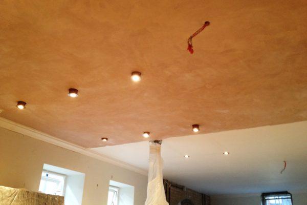 New ceiling plastered
