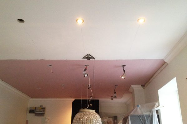Ceiling boards installed