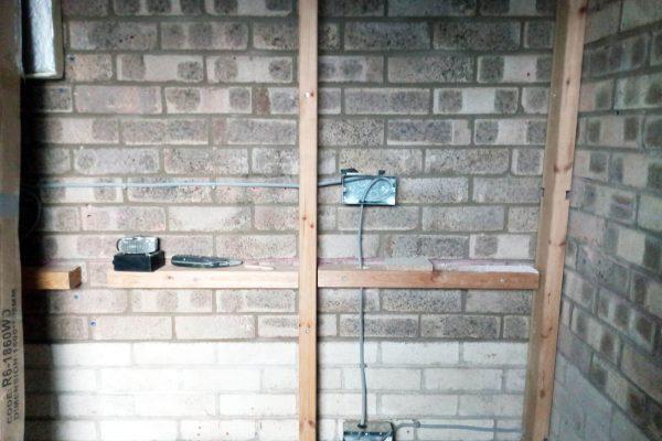 Garage - Electrical wiring first fix