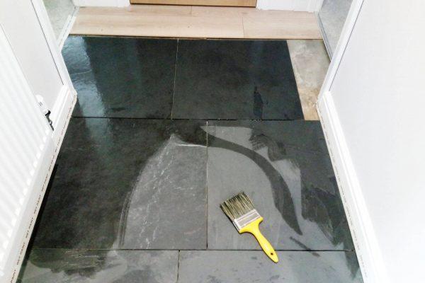 carefurbish-handyman-sealing-natural-slate-tiles-in-progress